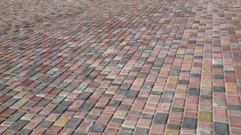 paving slab Stock Video Footage