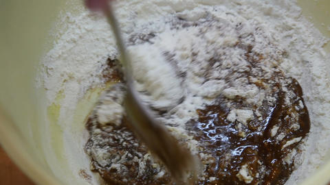 brown dough Stock Video Footage