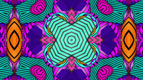 Psychedelic Kaleida Background stock footage
