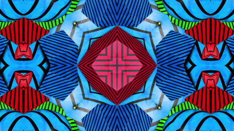 psychedelic kaleida Background Stock Video Footage