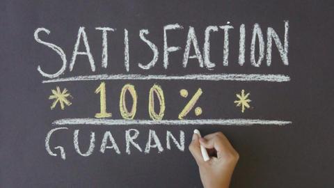 Satisfaction Guarantee Stock Video Footage