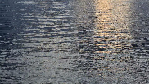 Sunset water ripples background Stock Video Footage