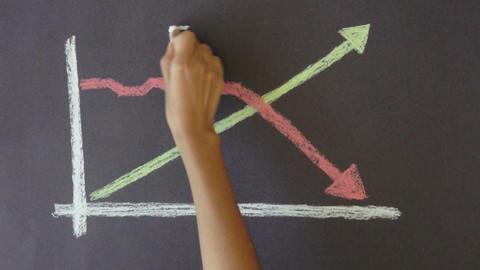 Success Failure Diagram Stock Video Footage