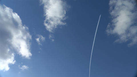 Airplane trail Stock Video Footage
