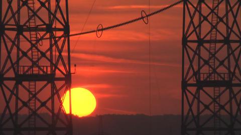 Cloudy sunrise Stock Video Footage