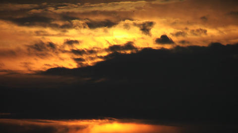 Cloudy sunrise Footage