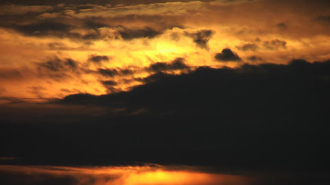 Cloudy sunrise Stock Video Footage