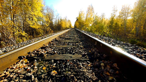 Old railroad 3 Stock Video Footage