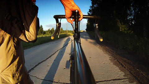 Walk with bicycle Stock Video Footage