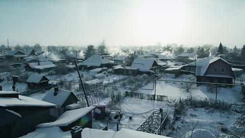 Winter village Stock Video Footage