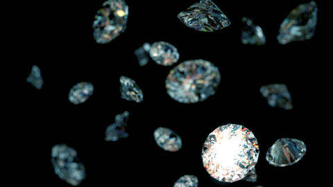 slowly falling diamonds, beautiful background Stock Video Footage