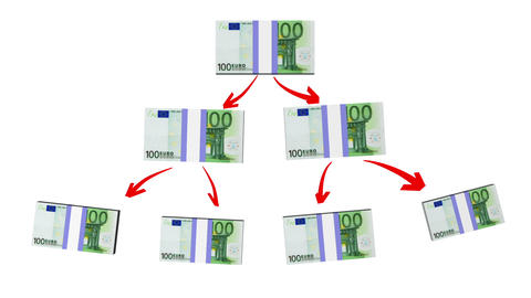 Money Pyramid (Euro Version) stock footage