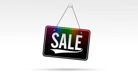 Sale Store Sign Stock Video Footage
