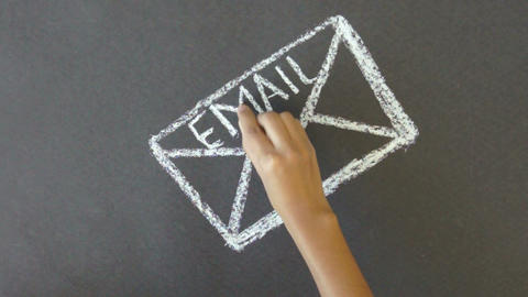 Email Communication Stock Video Footage