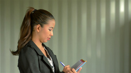 Young Businesswoman Smiling at the Camera Stock Video Footage