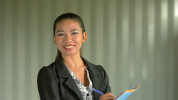 Young Businesswoman Smiling at the Camera Footage