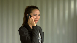 Young Businesswoman Getting Angry on the Phone and... Stock Video Footage