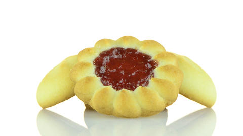 Strawberry biscuit Stock Video Footage