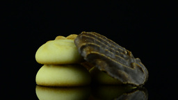 Delicious butter cookies Footage
