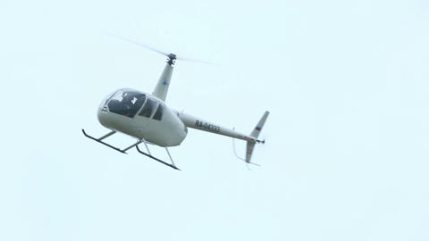 White helicopter Footage