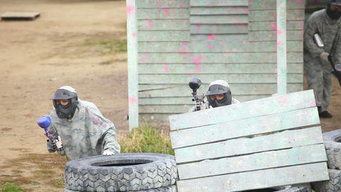 Paintball squad Footage