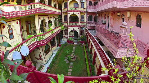 Jaipur hotel Stock Video Footage