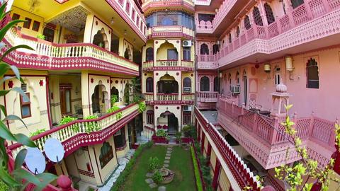 Jaipur Hotel stock footage