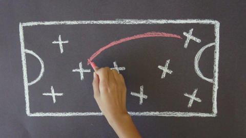 Strategy Chalk Drawing Stock Video Footage