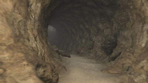 Cave Journey Stock Video Footage