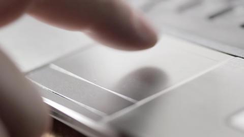 Laptop mouse pad CU Stock Video Footage