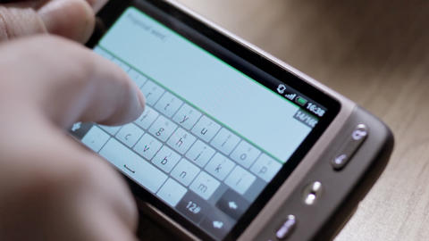 Smartphone virtual keyboard ビデオ