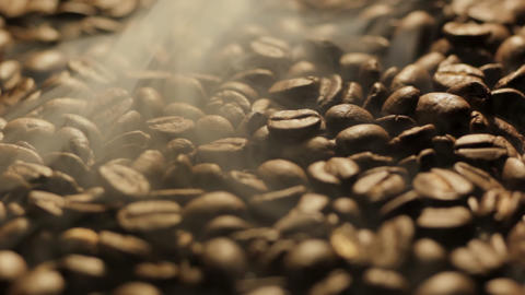 Roasting Coffee Beans turning Stock Video Footage