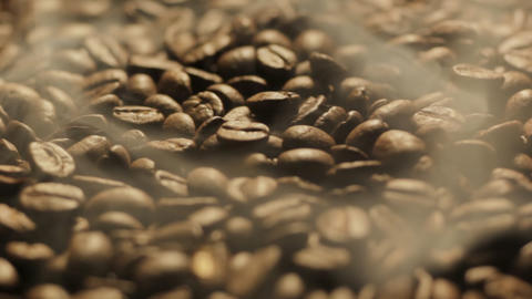 Roasting Coffee Beans turning Footage