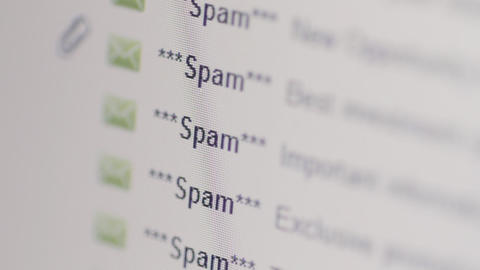 Spam Emails in Inbox Stock Video Footage
