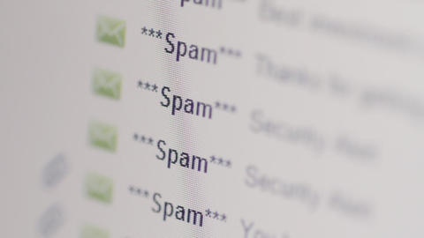 Spam Emails In Inbox stock footage
