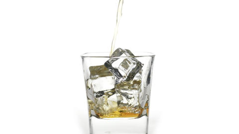 Scotch whiskey over ice Stock Video Footage