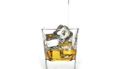 Scotch Whiskey Over Ice stock footage