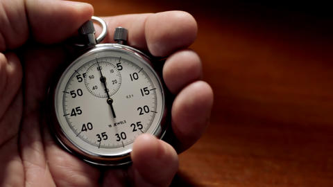 Man with stopwatch Stock Video Footage