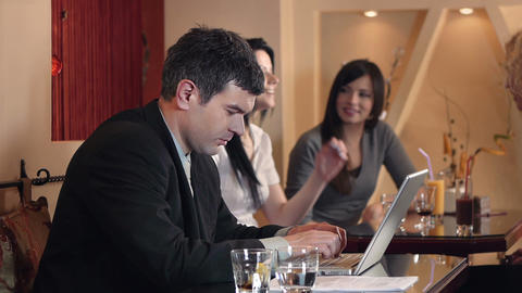 Business Café Stock Video Footage