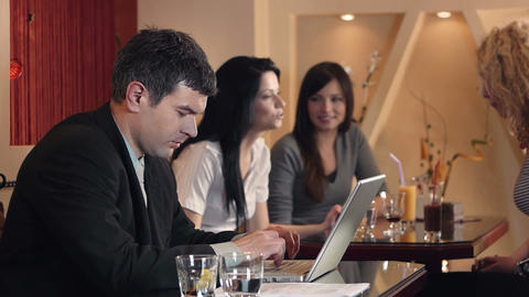 Business Café Footage