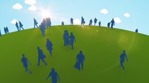 People and Green Planet Animation