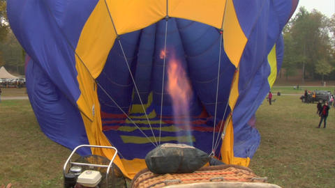 hot-air balloon 11 Stock Video Footage