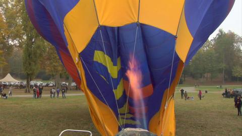 hot-air balloon 11 Stock Video Footage