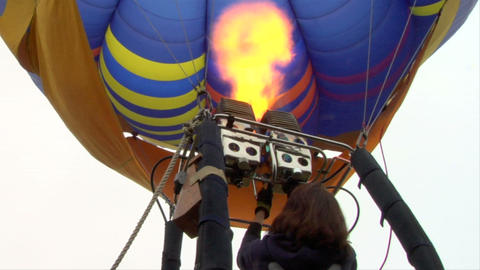 hot-air balloon 13 Stock Video Footage
