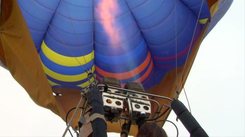 hot-air balloon 13 Stock Video Footage