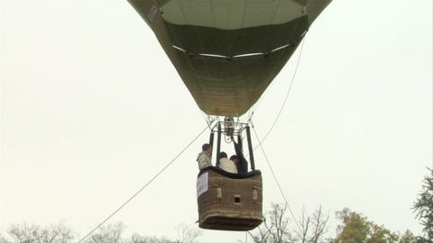 hot-air balloon 23 Stock Video Footage