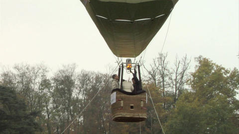 hot-air balloon 23 Stock Video Footage