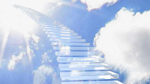stairway glass 01 Stock Video Footage