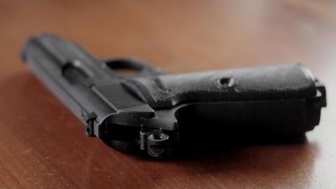 Dusting gun for fingerprints Stock Video Footage