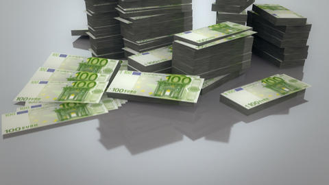 Pile of Euros Stock Video Footage